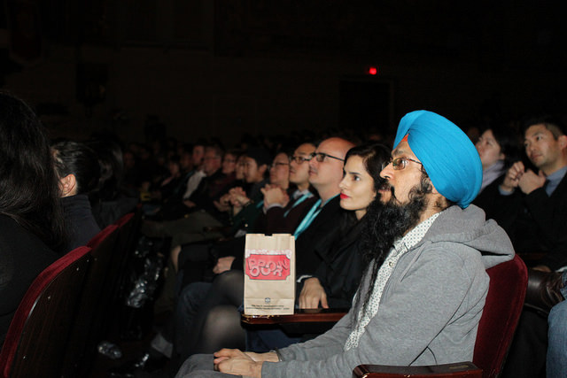 """Audience members at """"TYRUS."""" Photo by Leanne Koh."""