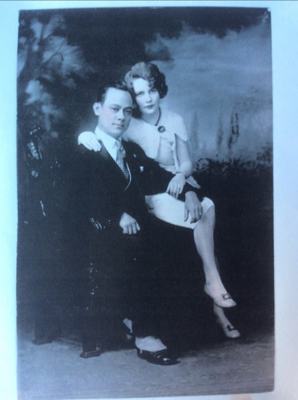 Carlos Carvajal's father, Carlos MT Carvajal with Rosa Gunhild Juhlin, taken at a photo studio on the 1700 block of Fillmore Street. They were recently married in 1929. Photo courtesy of Carlos Carvajal.