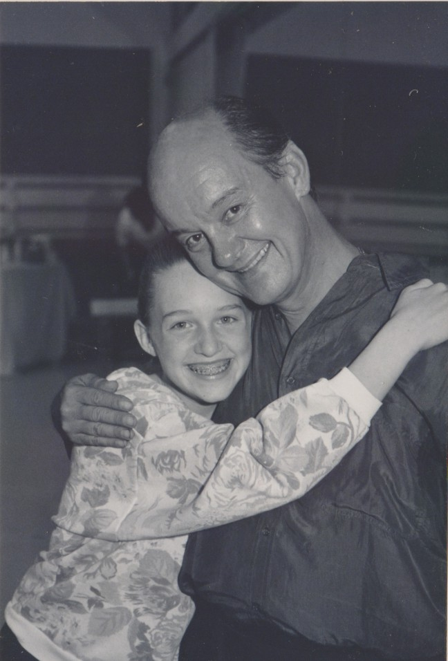 Lena Hall (Celina Carvajal) with her father, Carlos Carvajal, at 11 years-old.